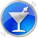 Bar Martini Circle Icon
