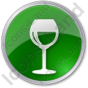 Bar Wine Circle Green Icon, PNG/ICO, 128x128