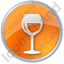 Bar Wine Circle Icon