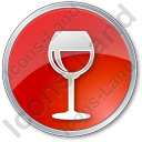 Bar Wine Circle Red Icon