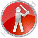 Baseball Circle Red Icon, PNG/ICO, 128x128