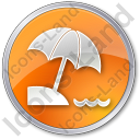 Beach Circle Orange Icon