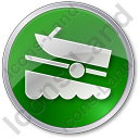 Boat Ramp Circle Icon