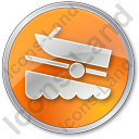 Boat Ramp Circle Orange Icon