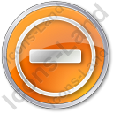 Border Crossing Circle Orange Icon, PNG/ICO, 128x128