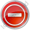 Border Crossing Circle Red Icon, PNG/ICO, 128x128