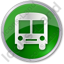 BusStation Circle Green Icon, PNG/ICO, 128x128