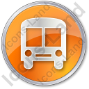BusStation Circle Orange Icon