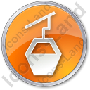 Cable Car Circle Orange Icon