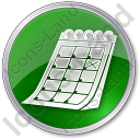 Calendar Circle Green Icon, PNG/ICO, 128x128