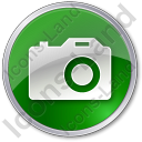 Camera Circle Green Icon, PNG/ICO, 128x128