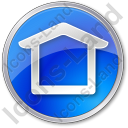 Camping Shelter Circle Blue Icon, PNG/ICO, 128x128