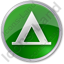 Camping Tipi Circle Green Icon, PNG/ICO, 128x128