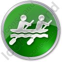 Canoeing Circle Icon
