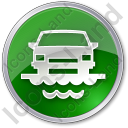 Car Ferry Circle Green Icon, PNG/ICO, 128x128