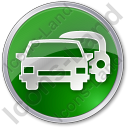 Car Rental Service Circle Green Icon, PNG/ICO, 128x128