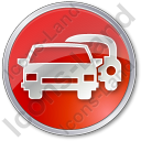 Car Rental Service Circle Icon