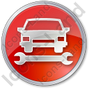 Car Repair Circle Icon
