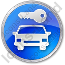 Car Safety Circle Blue Icon, PNG/ICO, 128x128