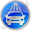 Car Wash Circle Blue Icon, PNG/ICO, 128x128