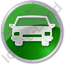 Car Circle Green Icon, PNG/ICO, 128x128