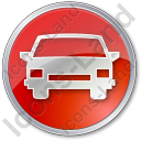Car Circle Red Icon, PNG/ICO, 128x128