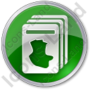 Cards Circle Green Icon, PNG/ICO, 128x128