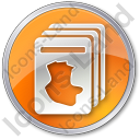 Cards Circle Orange Icon, PNG/ICO, 128x128