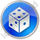 Casino Dice Circle Icon