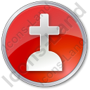 Cemetery Cross Circle Icon