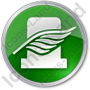 Cemetery Leaf Circle Green Icon