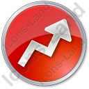Chart Arrow Circle Red Icon