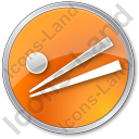 Chopsticks Circle Icon
