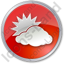Cloudy Partly Circle Icon