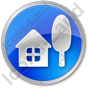 Cottage Circle Icon