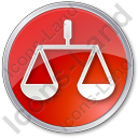 Court Circle Red Icon, PNG/ICO, 128x128