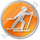 Cross Country Skiing Circle Icon