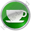 Cup Circle Green Icon, PNG/ICO, 128x128