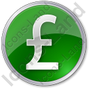 Currency Pound Circle Icon