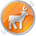 Deer Circle Orange Icon
