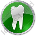 Dentist Tooth Circle Icon