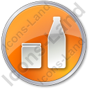 Drinks Jar Bottle Circle Icon