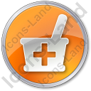 Drugstore Circle Orange Icon
