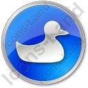 Duck Circle Blue Icon
