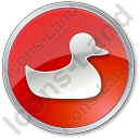 Duck Circle Red Icon