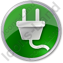 Electricity Power Plug Circle Icon