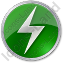 Electricity Sign Circle Icon