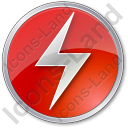 Electricity Sign Circle Red Icon
