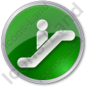 Escalator Circle Green Icon
