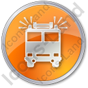 Fire Station Circle Orange Icon, PNG/ICO, 128x128